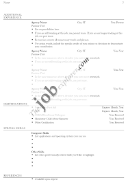 A Job Resume Sample Resume Template Free Resume Examples with Resume Writing Tips 45