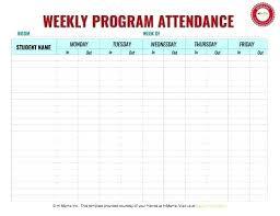 Free Printable Attendance Sheet Blank Attendance Form Template Free