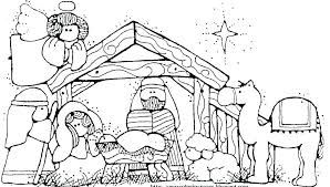Manger Scene Coloring Page Free Nativity Coloring Pages Nativity