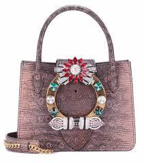 Miu Miu Bags | Designer Handbags at mytheresa.com & Embellished leather shoulder bag | Miu Miu Adamdwight.com