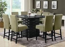 size dining room contemporary counter: contemporary counter height black dining table chairs dining room furniture