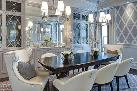 dining room gray. gray dining room with glass front china cabinets y