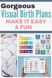Easy Birth Plan 5 Stunning Visual Birth Plans Birth Doula Birth Pregnancy Tips