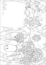 Rainbow Fish Coloring Pages Wanda The Octopus Coloringstar
