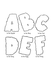 Coloring Pages Alphabet Coloring Pages For Kids Free Printable