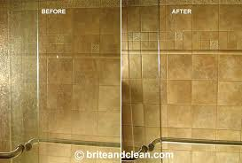 how to remove hard water stains from glass shower doors how to remove hard water stains