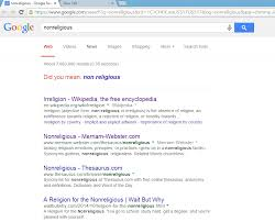 atheism google results can be personalized but my results are not since i am neither signed