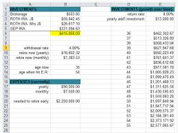 Budget Tracking Template Best I Built A Spreadsheet To Calculate What It Would Take To Retire