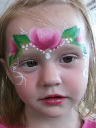 rose princess face paint design