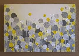 yellow and grey wall art textured painting abstract flowers large 24x36 acrylic painting on canvas on etsy 269 00 on grey and mustard yellow wall art with mustard yellow and grey wall art textured painting abstract