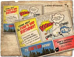 superheroes party invites superhero invitation vintage superhero birthday invite diy