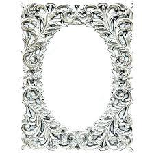 ornate wall mirrors decorative gold oval mirror silver orna