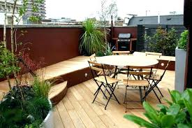 roof terrace decking with hardwood outstanding garden ideas for apartment outdoor wi