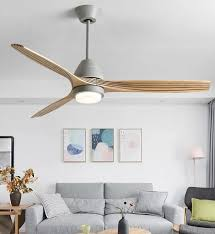 modern nordic ceiling fan with led