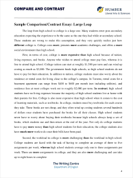 Essay Of Comparison And Contrast Examples 9 Comparative Essay Samples Free Pdf Format Download