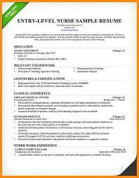 Entry Level Registered Nurse Resumes Resume Examples For Rn Intensive Care Unit Registered Nurse Resume