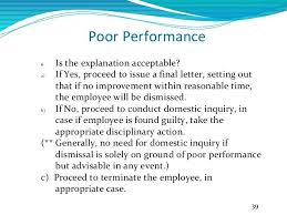 How To Terminate An Employee For Poor Performance Certificate