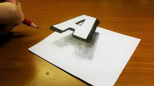 how to draw 3d hole for very easy 3d paintings on paper very easy how to drawing 3d floating letter