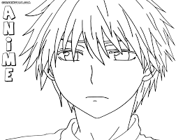 Small Picture Anime boy coloring pages Coloring pages to download and print