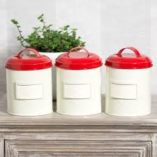 elegant red kitchen canisters red storage jars coffee tea sugar perfect lighthouse faro nautical