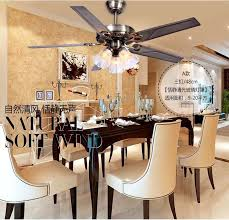 48 inch iron leaf lights fan living room dining ceiling pertaining to ideas 8