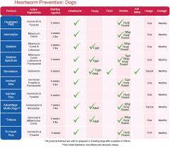 Flea Tick Prevention Comparison Chart Pin On Dogs