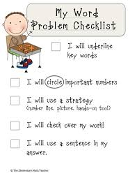 best word problems problem solving images math here s a checklist for students to help them remember steps in solving a word problem