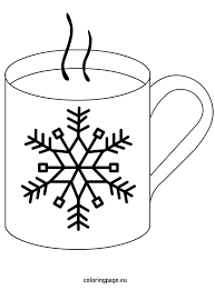 Small Picture Winter Hot Chocolate Coloring Page