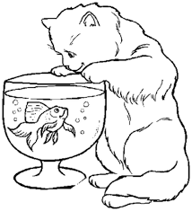 Small Picture Online Coloring Pages Kittens Ecolorings