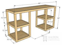Plans For Building A Computer Desk Best 25 Desk Plans Ideas On Pinterest  Build A Desk Diy Office School Computer Desks