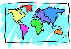 World Map Outline With Countries Labeled Copy Continent Clipart