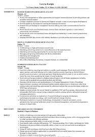 Marketing Research Analyst Resume Samples Velvet Jobs