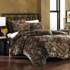 King Queen Plush Light Timber Wolf Fur Bedspread by FurAccents