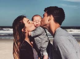 love cute baby family happy kiss