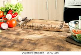 kitchen table with food. Kitchen Table With The Ingredients For Cooking Healthy Food And A Free Place B