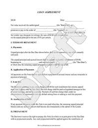 Loan Repayment Contract Free Template Awesome Personal Loan Agreement Template Simple Loan Agreement