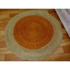 braided jute target terracotta round circle floor rug