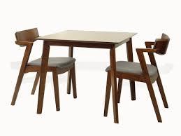 Rattan Wicker Furniture Yumiko Square Dining Table Kitchen Modern Wood Medium Brown