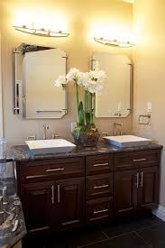 semi recessed vessel sink bathroom contemporary with sprays cherry vanity