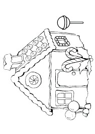 Blank Gingerbread House Coloring Pages Coloring Pages Best