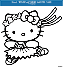 Coloring pages with colored markers for kids. 3 Hello Kitty Halloween Coloring Pages Coworksheets