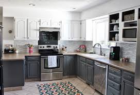 Gray Stained Kitchen Cabinets Stylish And Cool Gray Kitchen Cabinets For Your Home