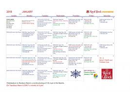 January 2018 Activity Calendar - Wellness! | Royal Brock: Brockville ...