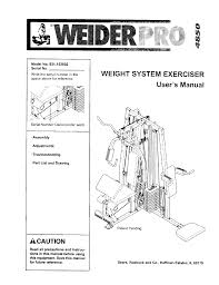 Weider Pro 4850 Exercise Chart Weider 831153932 User Manual Pro 4850 Manuals And Guides