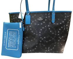 Coach Tote in Blue Black ...