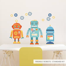 29 robot decals for wall decals for robot themed kids rooms build your own robot fabric wall mcnettimages com