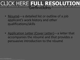 What Is A Resume Definition Resume Work Template