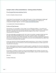 Sample Recommendation Letter For Graduate School From Professor