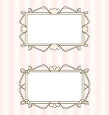 Fancy Frame Border Pink Vector Images 31