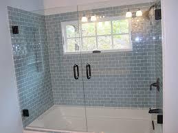 12 design tips for glass shower enclosures glass depots light blue gray subway tile